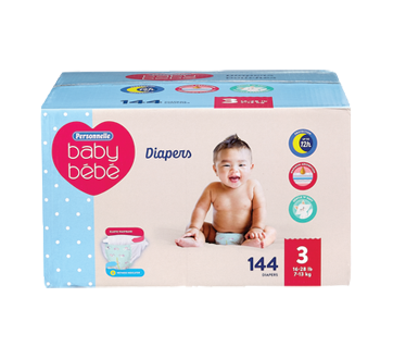 Diapers Giant Size 3 16-28 lb, 144 units
