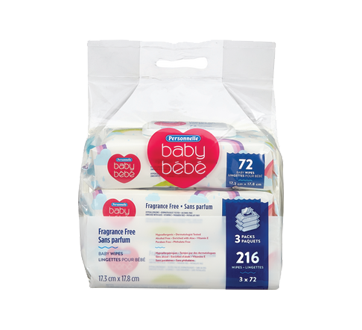 Fragrance Free Baby Wipes, 216 units