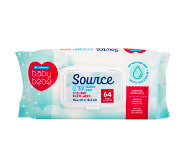 Source Ultra Unscented Wipes, 64 units