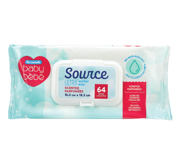 Source Ultra Scented Wipes, 64 units