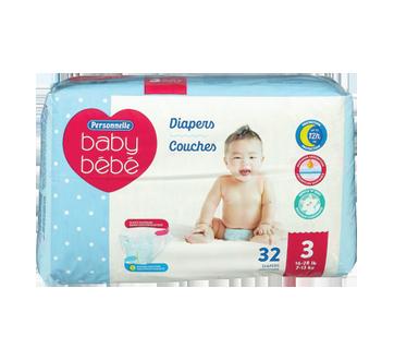Diapers Jumbo Size 3 16-28 lb+, 32 units