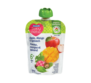Baby Food Purée 6 Months+, 128 ml, Apple, Mango & Spinach