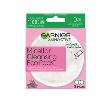 SkinActive Micellar Cleansing Eco Pads, 3 units