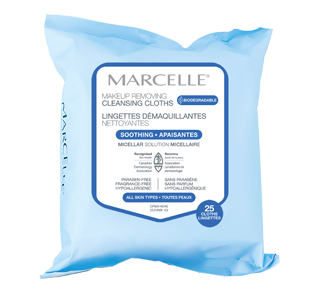 Biodegradable & Recyclable Ultra-Gentle Makeup Removing Cloths, 25 units