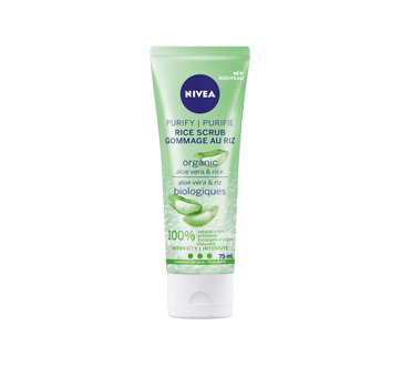 Purify Rice Scrub Combination Skin, 75 ml, Organic Rice & Aloe Vera