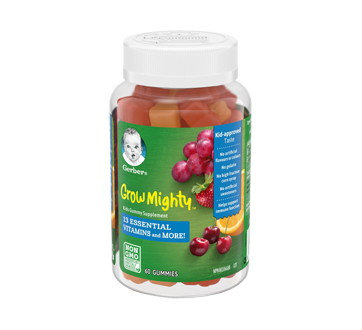Image 1 of product Gerber - Grow Mighty Kids Gummies Supplement, 60 units