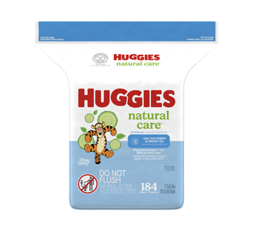 Refreshing Clean Scented Baby Wipes, 184 units, Cucumber & Green Tea