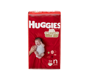 Little Snugglers Baby Diapers Size Newborn, 31 units