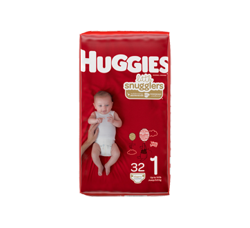 Little Snugglers Baby Diapers Size 1, 32 units