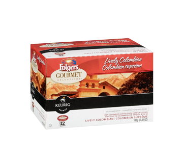 Image 2 of product Folgers - Gourmet Selection K-Cups, 12 K-Cups, Lively Colombian