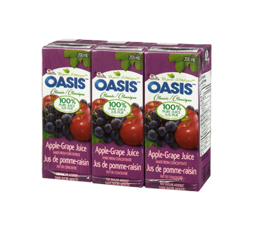 Image 1 of product Oasis - Apple and Grape Juice, 3 x 200 ml