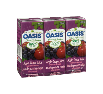 Image 2 of product Oasis - Apple and Grape Juice, 3 x 200 ml