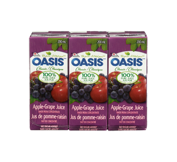 Image 3 of product Oasis - Apple and Grape Juice, 3 x 200 ml