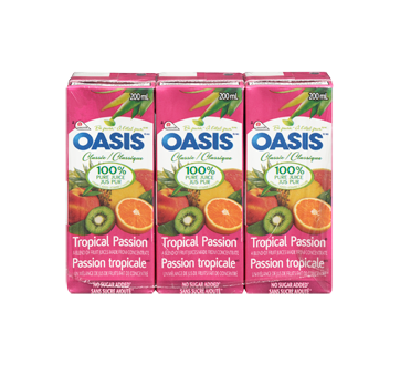 Image 3 of product Oasis - Tropical Passion Juice, 3 x 200 ml