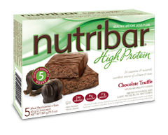 Image of product Nutribar - High Protein Meal Replacement Bars, 5 x 65 g, Chocolate Truffle
