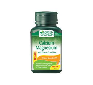 Image of product Adrien Gagnon - Calcium Magnesium + Vitamin D and Zinc, 200 units