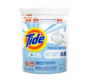 Pods Free & Gentle HE Laundry Detergent, 31 units