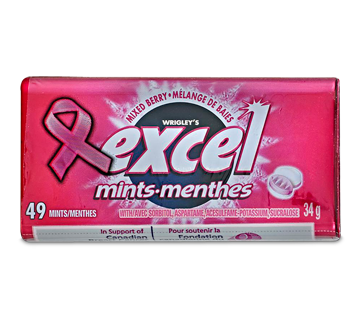 Excel Mints Mixed Berry, 49 units