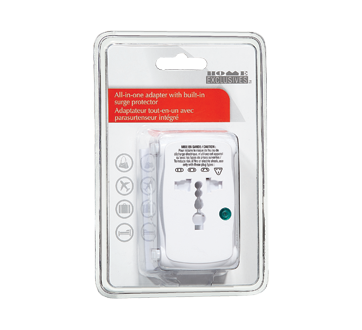 All-in-one Adapter with Built-in Surge Protector, 1 unit