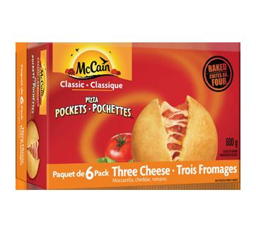 Pizza Pockets, 600 g, Three Cheese