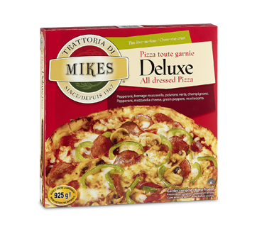 deluxe pizza 925 g mikes pizza and subs jean coutu