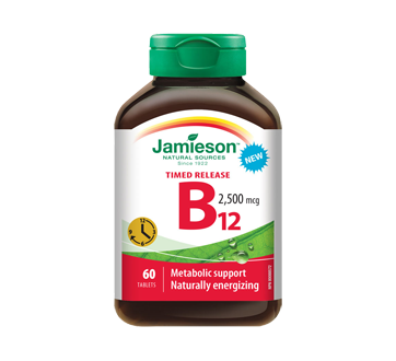 Image of product Jamieson - Vitamin B12 2500 mcg Methylcobalamin Timed Release, 60 units