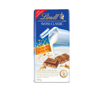 Image of product Lindt - Swiss Classic Crunchy Chocolate, 100 g
