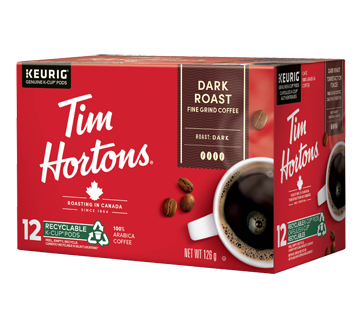 Image of product Tim Hortons - K-Cup Coffee Pods, 12 units, Dark Roast