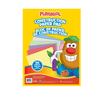 Image of product Playskool - Mr. Potato Head Construction Paper Pad, 96 units
