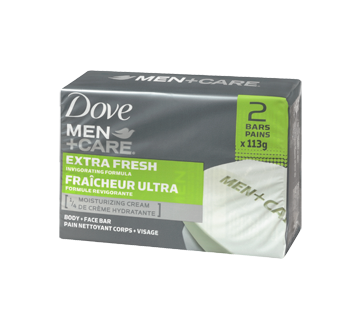 Extra Fresh Invigorating Formula Body & Face Bar, 2 x 113 g