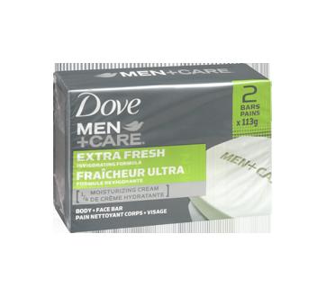 Image 2 of product Dove Men + Care - Extra Fresh Invigorating Formula Body & Face Bar, 2 x 113 g