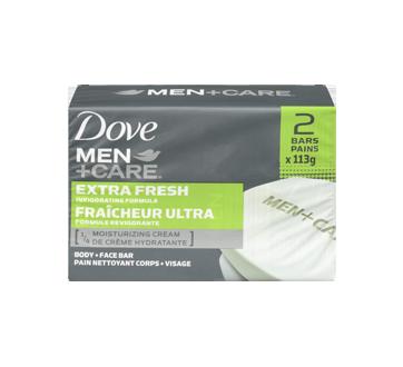 Image 3 of product Dove Men + Care - Extra Fresh Invigorating Formula Body & Face Bar, 2 x 113 g
