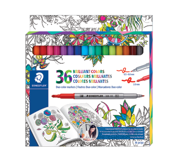 Duo-Color Markers, 36 units