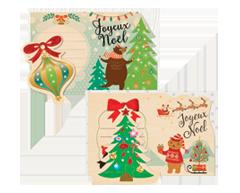 Image of product Greeting Cards - Plain Holidays Posts Set, 1 unit