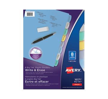 Write & Erase Plastic Dividers, 8 units