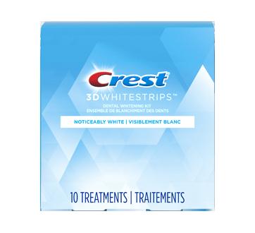 3D White Whitestrips Noticeably White Teeth Whitening Kit, 10 units