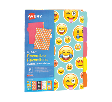reversible dividers 6 units avery notebooks and binders jean