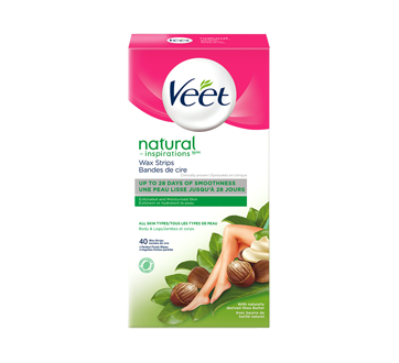 Natural Inspirations Wax Strips Legs & Body, 44 units