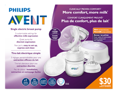 Image of product Avent - Single Electric Breast Pump, 1 unit
