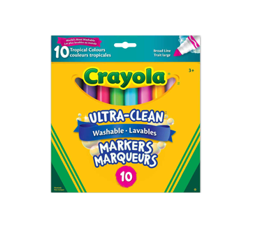 Ultra-Clean Washable Markers Tropical Colours, 10 units