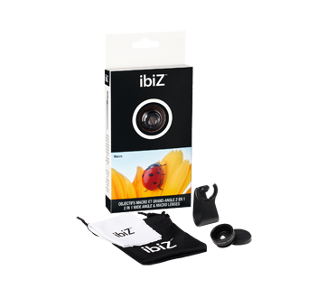 Image of product ibiZ - 2-in-1 Wide Angle & Macro Lenses, 1 unit