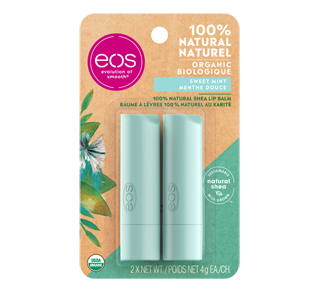 Smooth Stick Lip Balm, 2 x 4 g, Sweet Mint