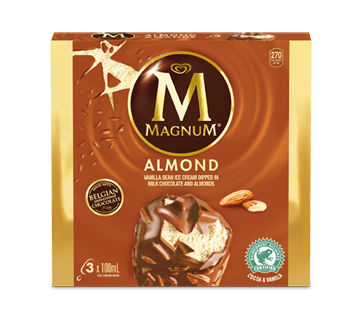 Almond Ice Cream Bars, 3 units, Almond