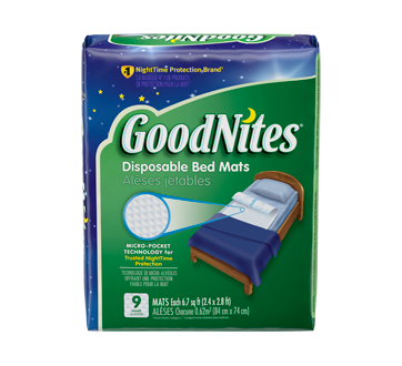 GoodNites Disposable Bed Mats, 9 units
