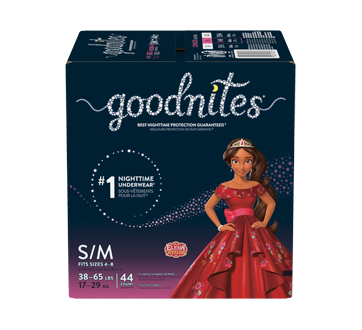 Goodnites Bedwetting Underwear for Girls, 44 units, Small-Medium