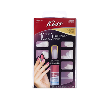 Full-Cover Active Oval Nails, 100 units