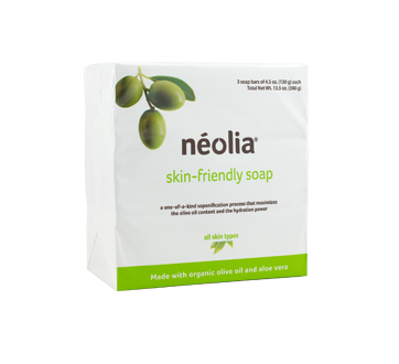 Image of product Néolia - Organic Olive Oil Bar Soap, 3 x 130 g