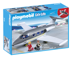 Image of product Playmobil - Private Jet Play Set, 1 unit