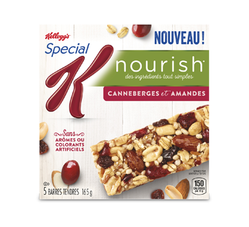 Special K Nourish Bars Cranberries and Almonds, 165 g