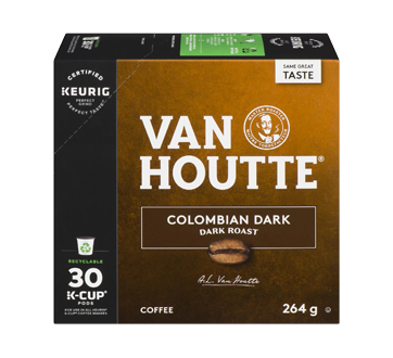 K-Cup Colombian Coffee Pods, 30 units, Dark